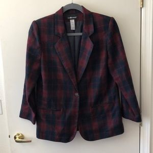 Sag Harbor Wool Blend  Blazer Size 14 Gently Used